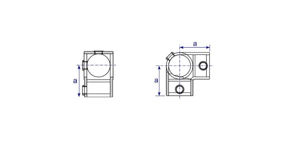 Rohrverbinder Winkel mit Durchgang