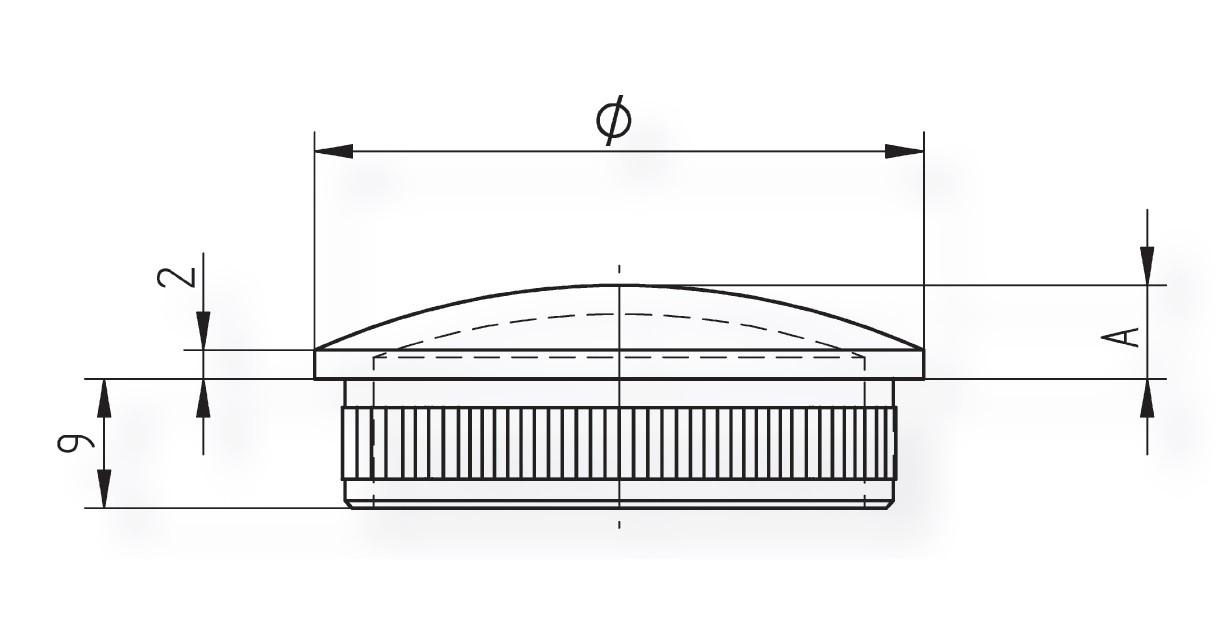 Rohr Abschlusskappe aus Edelstahl