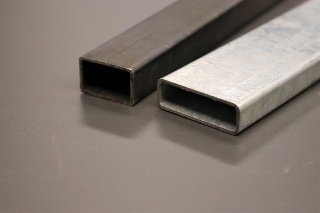 Rechteckrohr Stahl roh und verzinkt