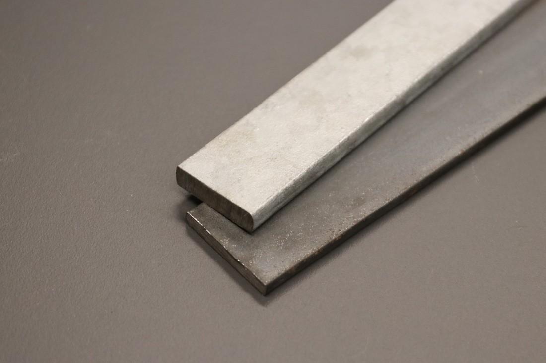 Stahl Flach verzinkt und roh