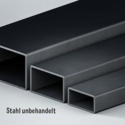 Rechteckrohr Stahl unbehandelt/roh