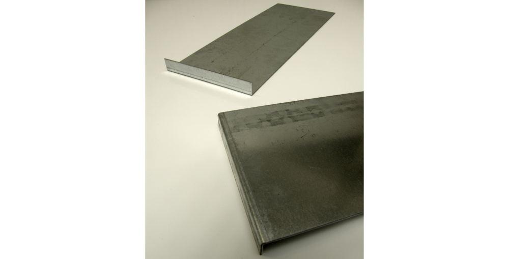 verzinktes Stahlblech gekantet (L-Kantung)