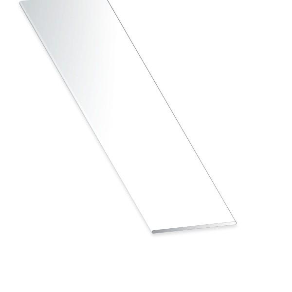 Flachstange PVC weiss 100x2x2600 mm