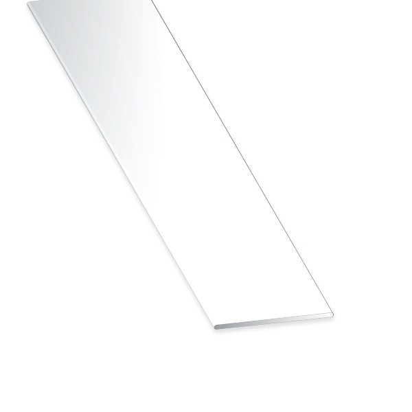 Flachstange PVC weiss 20x2x2600 mm
