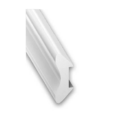 Einfass-Profil PVC weiss 20x20x2600 mm