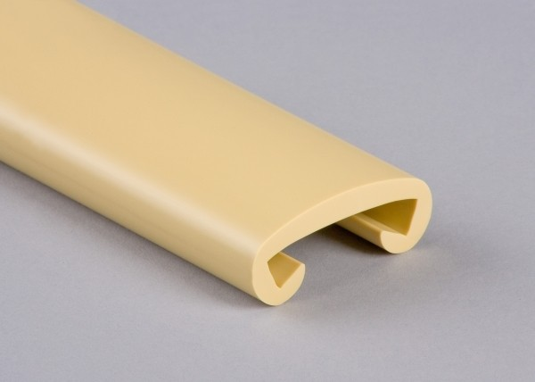 PVC Handlauf elfenbein 007 für Flachstahl 40 x 8 mm