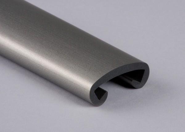 PVC Handlauf graualuminium 019 für Flachstahl 40 x 8 mm