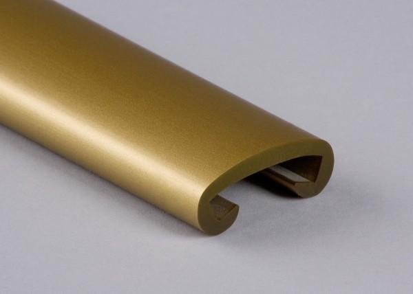 PVC Handlauf gold 020 für Flachstahl 40 x 8 mm