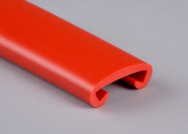 PVC Handlauf marsrot 027 für Flachstahl 40 x 8 mm