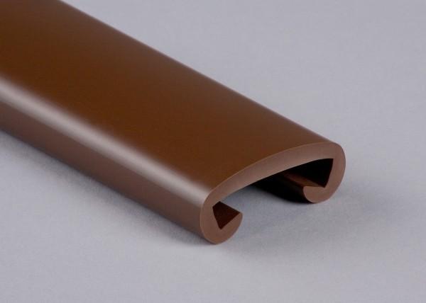PVC Handlauf tiefbraun 028 für Flachstahl 40 x 8 mm