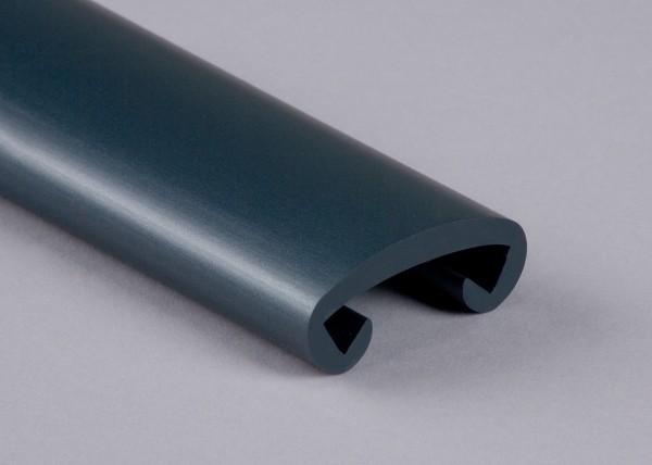 PVC Handlauf stratosanthrazit 502 für Flachstahl 40 x 8 mm