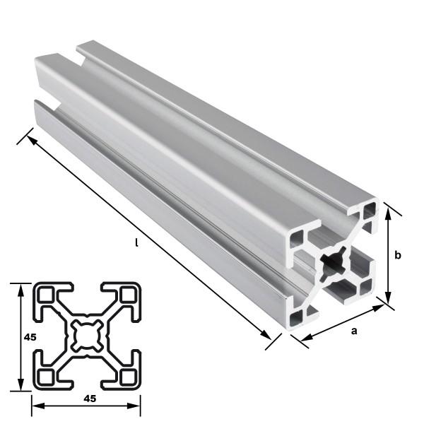Alu-Konstruktionsprofil 45 x 45 mm Nut 10 mm