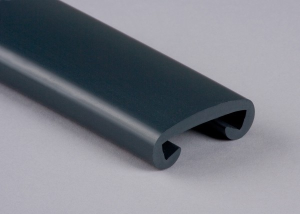 PVC Handlauf anthrazitgrau 002 für Flachstahl 40 x 8 mm