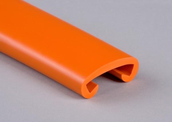 PVC Handlauf reinorange 005 für Flachstahl 40 x 8 mm