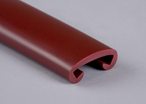 PVC Handlauf weinrot 012 für Flachstahl 40 x 8 mm