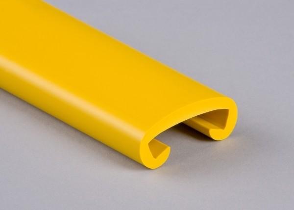 PVC Handlauf rapsgelb 022 für Flachstahl 40 x 8 mm
