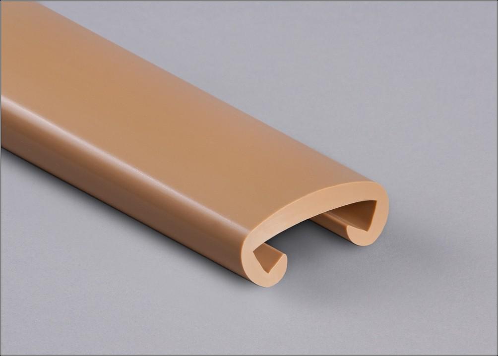 PVC Handlauf sandbeige 030 für Flachstahl 40 x 8 mm