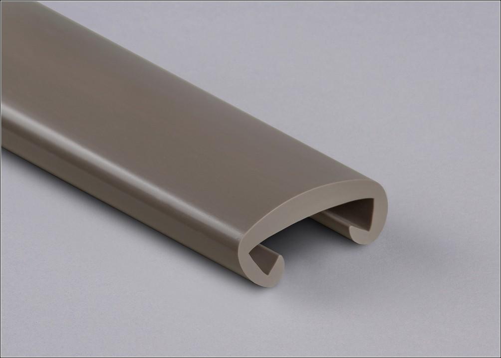 PVC Handlauf graubraun 031 für Flachstahl 40 x 8 mm