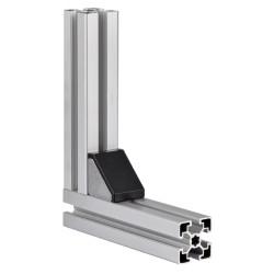 Winkel-Abdeckkappen Nut 10 mm, 45x45mm