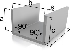 U-Kantung aus Quadratlochblech